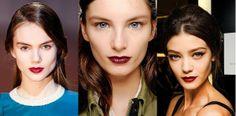 Los labios burgundy han destacado en las pasarelas Otoño-Invierno 2013. Puedes lograr este look con nuestro Lasting Finish Matte Lipstick. ¿Cuál te gusta más?