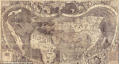 Waldseemuller world map 1507 - first to show America as a separate continent.