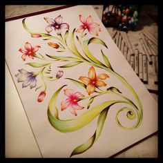 Stunning! Done with Copic markers.