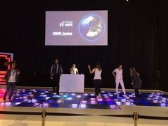 Energy Floors om energie op te wekken in het Energy Lab; 96 maxon motoren zetten de beweging om in energie, ook dát kan! - maxon motor benelux op Shell Energy Lab, Shell Eco-marathon 2014