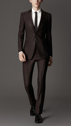 Burberry Slim Fit Ottoman Wool Evening Suit