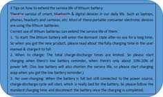 Correct use of lithium batteries can extend the service life of them, here're 3 tips  Anbes Tech (@anbestech)   Twitter