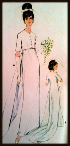 McCall's 8527  Misses' Brides' Bridesmaids' Or by ThePatternShopp, $45.00