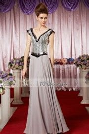 2015 New Gray A-Line Backless Prom Gown 30288
