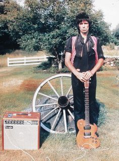 Keith Richards at his home in South Salem, New York in 1978 by Michael Putland/Getty Images