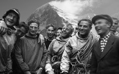 Eiger North Face team The Eiger north face, was first climbed on July 24, 1938 by the Austrians Heinrich Harrer and Fritz Kasparek and the Germans Anderl Heckmair and Ludwig Vörg.