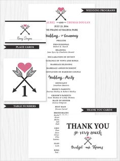 Our free printable wedding stationery! #weddingchicks http://www.weddingchicks.com/2014/07/07/free-arrow-wedding-stationery/