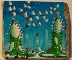 """""""me 07"""" Paweł Widera original paintings, acrylic on wood"""