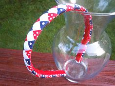 Patriotic 4th of July  Woven Braided Ribbon by ExcuseMeDesigns