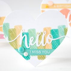 Hello heart card! Check out the others Shari made in this style by clicking the image.