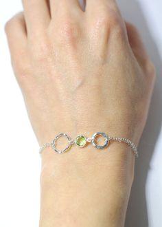 Birthstone bracelet Aug birthstone Personalized by AngelicSpark, $26.00