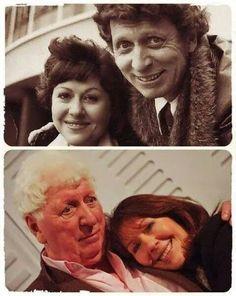 Fourth Doctor (Tom Baker) and Elisabeth Sladen #doctorwho #scifi #sciencefiction #photo