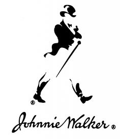 The famous and iconic Johnnie Walker Ad Design, Logo Design, Walker Logo, Logo Luxury, Money Pictures, Design Digital, Famous Logos, Old Ads, Creative Logo