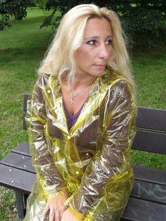 Raincoats For Women Green Refferal: 8165813735 Vinyl Raincoat, Pvc Raincoat, Raincoat Jacket, Plastic Raincoat, Hooded Raincoat, Raincoats For Women, Jackets For Women, Plastic, Sewing Patterns