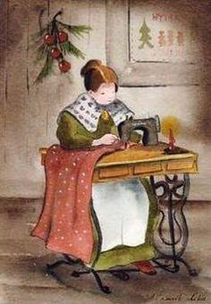 Vintage Sewing Illustration