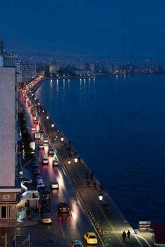 Thessaloniki by night, Greece Beautiful Islands, Beautiful Places, Places Around The World, Around The Worlds, Greece Travel, Airplane View, The Good Place, Cool Photos, Amazing Photos