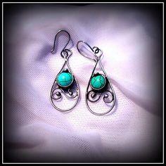 Howlite earring / SOLD /