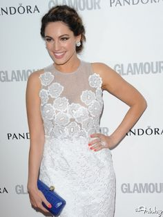 """Kelly Brook's doing the whole """"strategically placed appliques thing."""""""