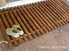 DIY:: Love this- Wooden Welcome Mat!
