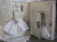 ~ vintage book assemblage dress treasures❧♡°