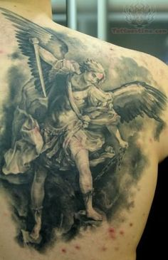 d57725219565a Black And Grey Warrior Angel Tattoos 27 warrior angel tattoos designs ...  Angel Warrior