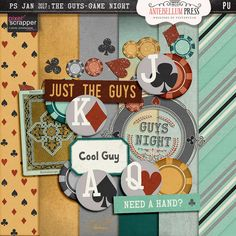 PS Jan 2017 Blog Train - The Guys : Game Night Freebie Kit from Antebellum Press