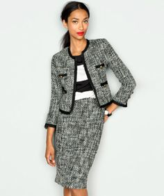 I just happen to have this suit, but I wouldn't have thought of pairing the stripped tee with it!  Thoughts from anyone if it is a do, or don't out there???