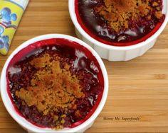 Blackberry-Raspberry Mini Cobblers - Love this Skinny Dessert! #skinnyms #cleaneating #desserts