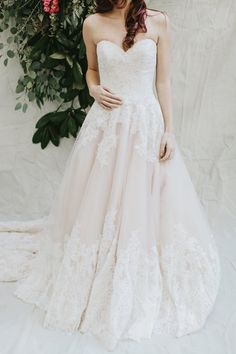 blush pink wedding dress details - photo by Brian Schindler Photography http://ruffledblog.com/morilee-by-madeline-gardner-2017-collection