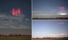 Red sprite lightning storm appears in the sky over Oklahoma #DailyMail
