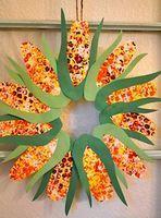 Bubble Printed Corn Wreath