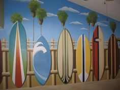 surf mural...I think I could do this :)