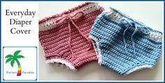 Crochet Pattern for Everyday Diaper Cover by ThePatternParadise, $4.99