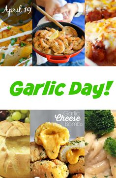 It's Garlic Day! Just the smell alone makes you feel hungry because it stimulates your appetite. Well, try to look at these photos and tell me you're not drooling on your keyboard :) After checking these recipes, you might be running on your kitchen! See recipes ---> http://www.discountqueens.com/april-19th-is-garlic-day/