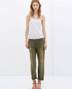 ZARA - NEW THIS WEEK - TROUSERS WITH PAINT MARKS
