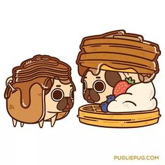 Mmmmmmorning everyone! Would you like pancakes or waffles? :3 by pugliepug