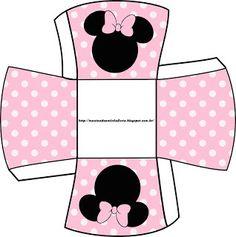 LARGE SET-- Montando a minha festa: Minnie rosa e preto