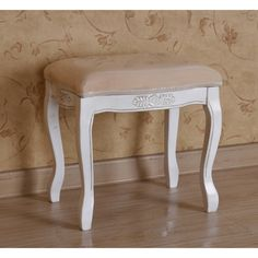Marvelous Design Ideas using Brown Laminate Floor and Rectangular white wooden Stools include Brown Suede Seat Covers