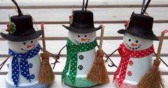 Terracotta Pot Snowman | Terracotta Pot Snowmen | TheWHOot