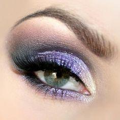 White, purple, and black.