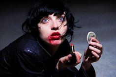 Mort with the lipstick in the basement Tyler Shields, Safari, Lipstick Photos, Dragon Age, Vignettes, Art Inspo, Character Inspiration, Halloween Face Makeup, Portrait