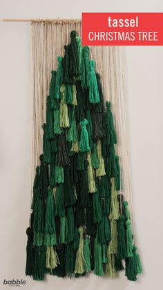 Add a holiday twist to the tassel trend with this DIY Tassel Christmas Tree — and you'll have yourself one of the most stylish home decorations around. Not only is this tree craft cost-effective and great for small spaces, but it is also a safer alternative to a traditional tree when you have pets or toddlers running around the house. Don't miss '25 Days of Christmas' on Freeform, now through December 25th.
