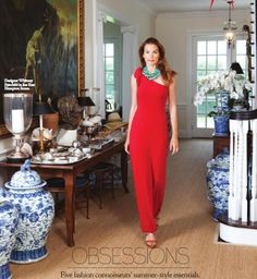 Whitney Fairchild Surrounded By Blue And White Chinoiserie China