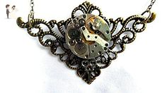 Steampunk Necklace Brass Filigree - Wedding nacklaces (*Amazon Partner-Link)