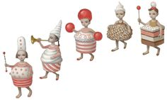 """Sketches by Mark Ryden for """"Whipped Cream"""", a ballet choreographed by Alexei Ratmansky. Credit Mark Ryden"""