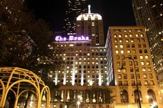 The Drake, Chicago, IL  The Drake opened on New Year's Eve in 1920, and legend has it that a woman in a red dress jumped from the roof of the hotel the same night after finding her husband cheating on her. Ever since, guests have reported sightings of her throughout the hotel.