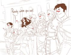 DA2, Merrill, Varric, Isabela, Fenris, Aveline, Anders and Carver