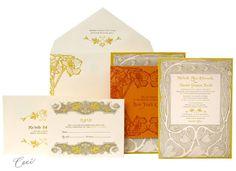 Art nouveau- Lalique - Wedding Invitations - Ceci Ready-to-Order Collection - Ceci Wedding - Ceci New York
