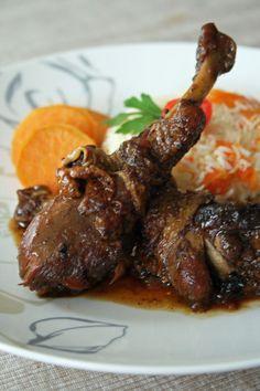 Fricassé de poulet caramélisé à l'Antillaise