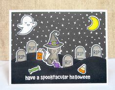 Spooktacular Halloween Scene Card